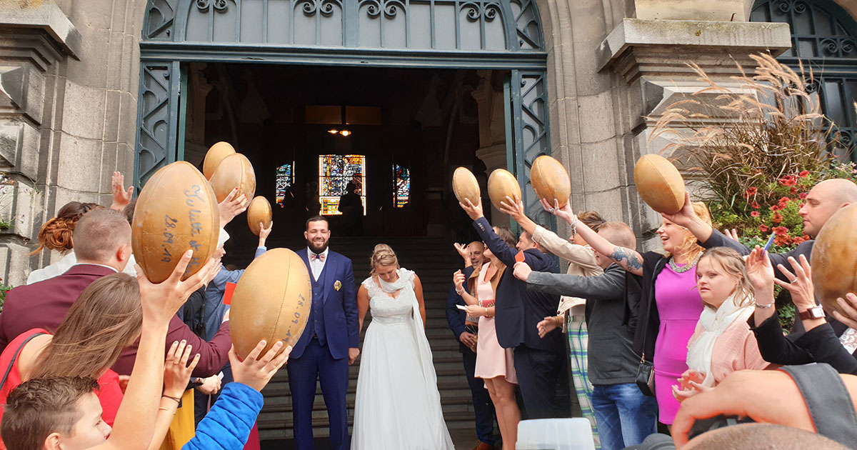 Mariage 100% rugby